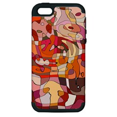 Abstract Abstraction Pattern Moder Apple Iphone 5 Hardshell Case (pc+silicone)