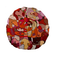 Abstract Abstraction Pattern Moder Standard 15  Premium Round Cushions