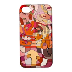 Abstract Abstraction Pattern Moder Apple Iphone 4/4s Hardshell Case With Stand
