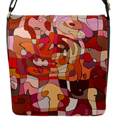 Abstract Abstraction Pattern Moder Flap Messenger Bag (s)