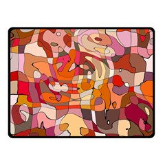 Abstract Abstraction Pattern Moder Double Sided Fleece Blanket (small)