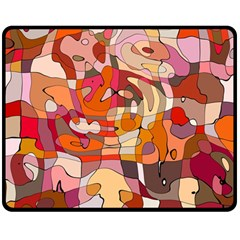 Abstract Abstraction Pattern Moder Double Sided Fleece Blanket (medium)