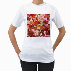 Abstract Abstraction Pattern Moder Women s T Shirt (white)