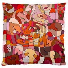 Abstract Abstraction Pattern Moder Large Flano Cushion Case (one Side)