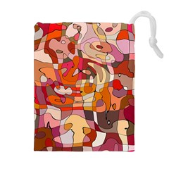 Abstract Abstraction Pattern Moder Drawstring Pouches (extra Large)