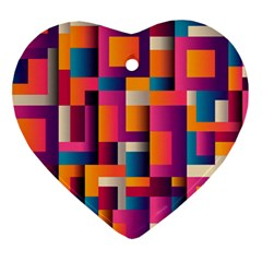 Abstract Background Geometry Blocks Ornament (heart)