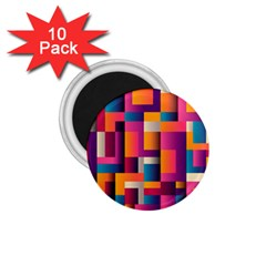 Abstract Background Geometry Blocks 1 75  Magnets (10 Pack)
