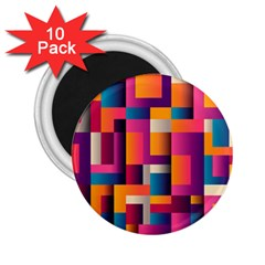Abstract Background Geometry Blocks 2 25  Magnets (10 Pack)