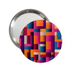 Abstract Background Geometry Blocks 2 25  Handbag Mirrors
