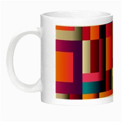 Abstract Background Geometry Blocks Night Luminous Mugs