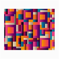 Abstract Background Geometry Blocks Small Glasses Cloth