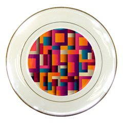 Abstract Background Geometry Blocks Porcelain Plates