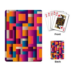 Abstract Background Geometry Blocks Playing Card