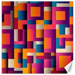 Abstract Background Geometry Blocks Canvas 12  x 12