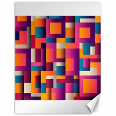 Abstract Background Geometry Blocks Canvas 18  X 24