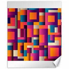Abstract Background Geometry Blocks Canvas 11  X 14