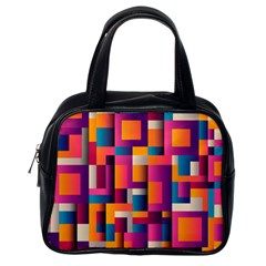 Abstract Background Geometry Blocks Classic Handbags (one Side)