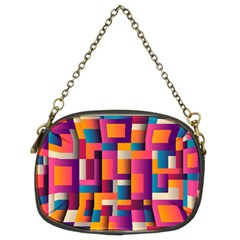 Abstract Background Geometry Blocks Chain Purses (two Sides)