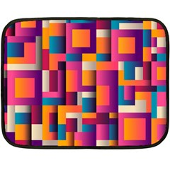 Abstract Background Geometry Blocks Fleece Blanket (mini)
