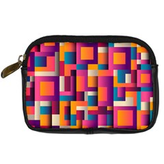 Abstract Background Geometry Blocks Digital Camera Cases