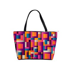 Abstract Background Geometry Blocks Shoulder Handbags