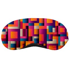 Abstract Background Geometry Blocks Sleeping Masks