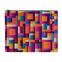 Abstract Background Geometry Blocks Cosmetic Bag (xl)