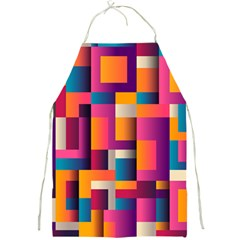 Abstract Background Geometry Blocks Full Print Aprons