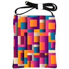 Abstract Background Geometry Blocks Shoulder Sling Bags