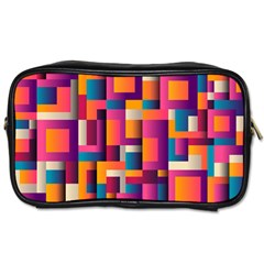 Abstract Background Geometry Blocks Toiletries Bags 2 Side