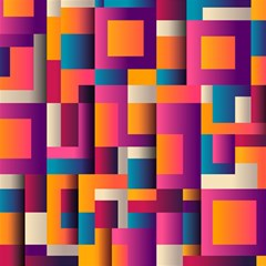 Abstract Background Geometry Blocks Magic Photo Cubes