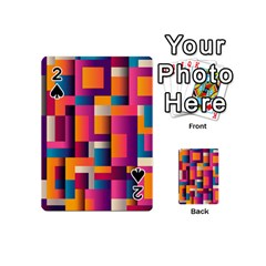 Abstract Background Geometry Blocks Playing Cards 54 (mini)