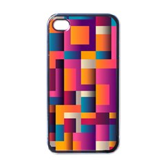Abstract Background Geometry Blocks Apple Iphone 4 Case (black)