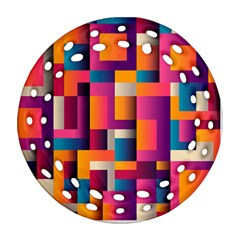 Abstract Background Geometry Blocks Ornament (round Filigree)