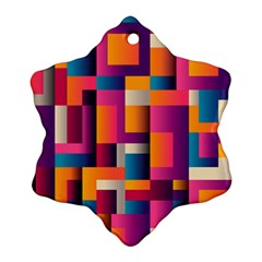 Abstract Background Geometry Blocks Ornament (snowflake)
