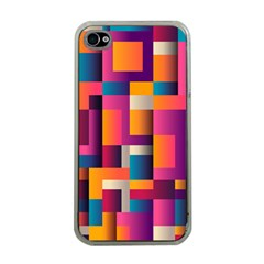 Abstract Background Geometry Blocks Apple Iphone 4 Case (clear)