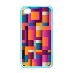 Abstract Background Geometry Blocks Apple Iphone 4 Case (color)