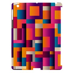 Abstract Background Geometry Blocks Apple Ipad 3/4 Hardshell Case (compatible With Smart Cover)