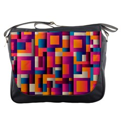 Abstract Background Geometry Blocks Messenger Bags