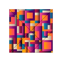 Abstract Background Geometry Blocks Acrylic Tangram Puzzle (4  X 4 )