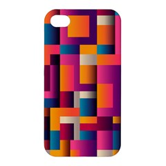 Abstract Background Geometry Blocks Apple Iphone 4/4s Premium Hardshell Case