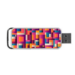 Abstract Background Geometry Blocks Portable Usb Flash (two Sides)