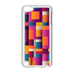 Abstract Background Geometry Blocks Apple Ipod Touch 5 Case (white)