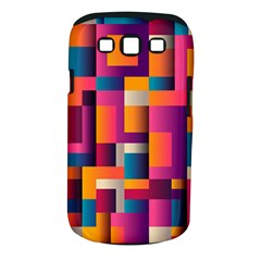 Abstract Background Geometry Blocks Samsung Galaxy S Iii Classic Hardshell Case (pc+silicone)