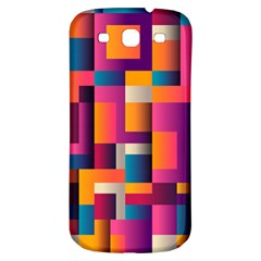Abstract Background Geometry Blocks Samsung Galaxy S3 S Iii Classic Hardshell Back Case