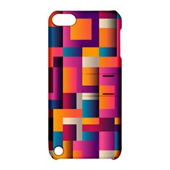 Abstract Background Geometry Blocks Apple Ipod Touch 5 Hardshell Case With Stand