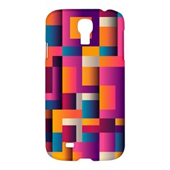 Abstract Background Geometry Blocks Samsung Galaxy S4 I9500/i9505 Hardshell Case