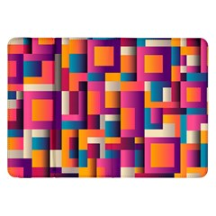 Abstract Background Geometry Blocks Samsung Galaxy Tab 8 9  P7300 Flip Case
