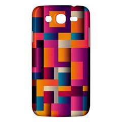 Abstract Background Geometry Blocks Samsung Galaxy Mega 5 8 I9152 Hardshell Case