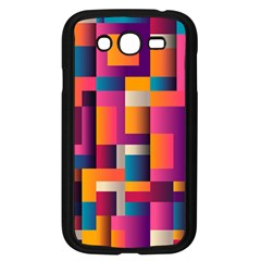Abstract Background Geometry Blocks Samsung Galaxy Grand Duos I9082 Case (black)